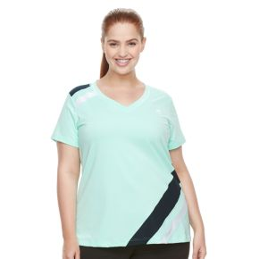 Plus Size FILA SPORT® Slash Stripe V-Neck Tee