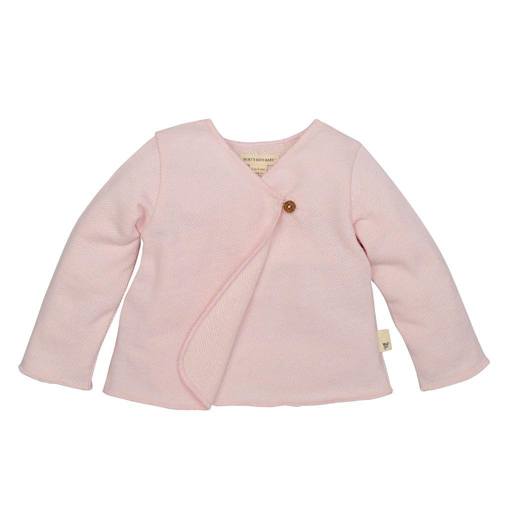Baby Girl Burt's Bees Baby Organic Pique Kimono Top & Pants Set