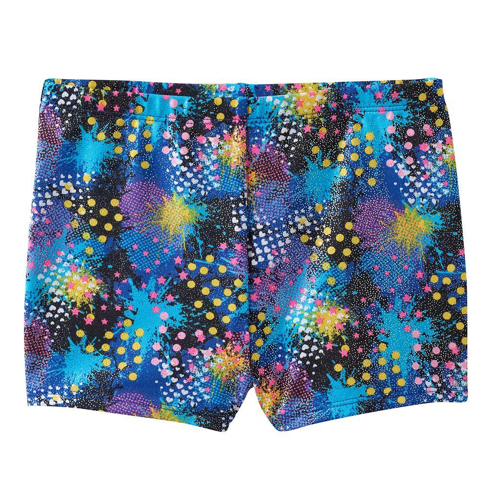 Girls 4-14 Jacques Moret Splatter Metallic Shorts