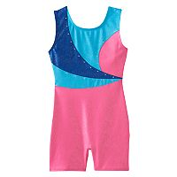 Girls 4-14 Jacques Moret Colorblock Embellished Biketard Leotard