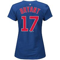 Plus Size Majestic Chicago Cubs Kris Bryant Name and Number Tee