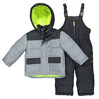Baby Boy OshKosh B'gosh® Quilted Colorblocked Jacket & Bib Overall Snow Pants Set