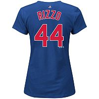 Plus Size Majestic Chicago Cubs Anthony Rizzo Name and Number Tee
