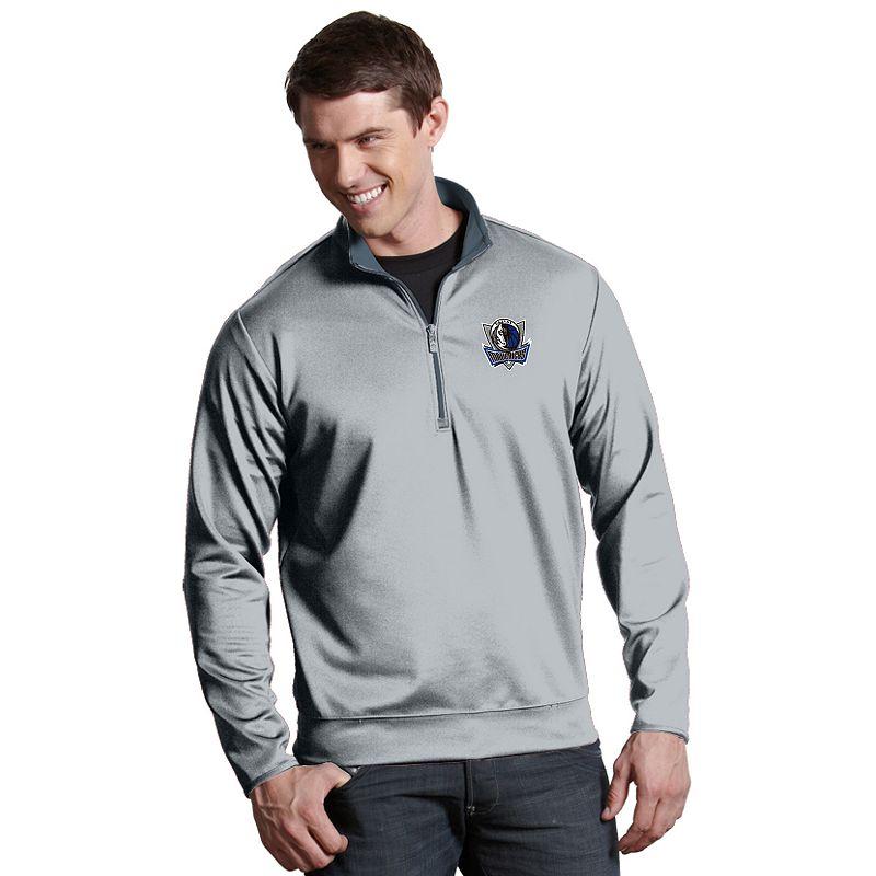 Men's Antigua Dallas Mavericks Leader Pullover. Size: Small. Silver