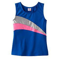 Girls 4-14 Jacques Moret Hologram Metallic Tank Top
