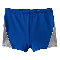 Girls 4-14 Jacques Moret Hologram Metallic Hem Shorts