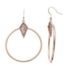 Jennifer Lopez Oblong Halo Nickel Free Circle Drop Earrings