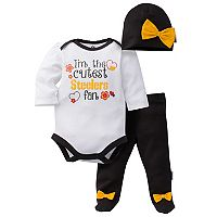Baby Girl Pittsburgh Steelers Cutest Fan 3-Piece Bodysuit Set