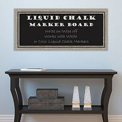 Amanti Art Silver Finish Framed Liquid Chalkboard Wall Decor