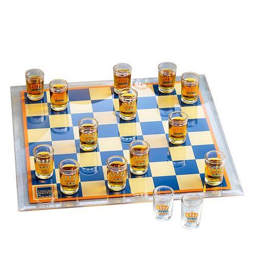 Game Night Shot Glass Checkers Game Set