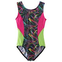 Girls 4-14 Jacques Moret Swirl Colorblock Leotard