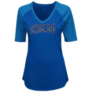 Plus Size Majestic Chicago Cubs Baseball Tee