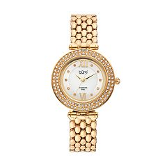 burgi Women's Diamond & Crystal Swiss Watch