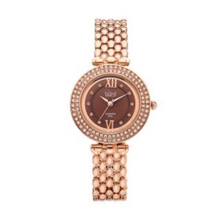 burgi Women's Diamond & Crystal Swiss Watch