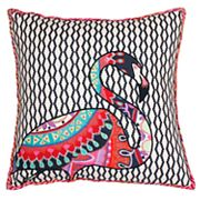 Thro by Marlo Lorenz Zazu Flamingo Embroidered Throw Pillow