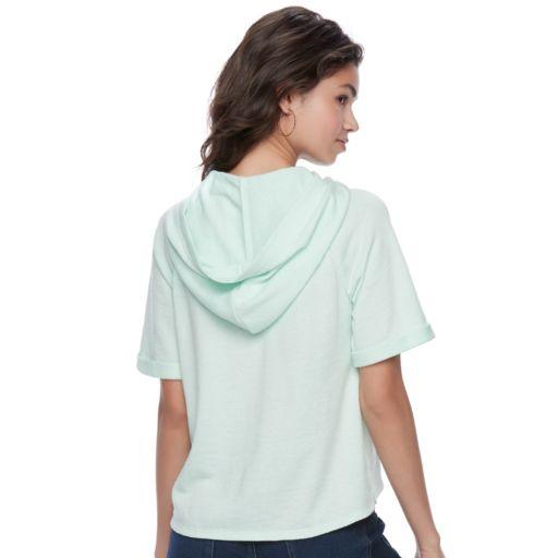 Juniors' SO® Perfectly Soft Raglan Hooded Sweatshirt
