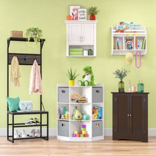 RiverRidge Kids Cubby Corner Storage Cabinet