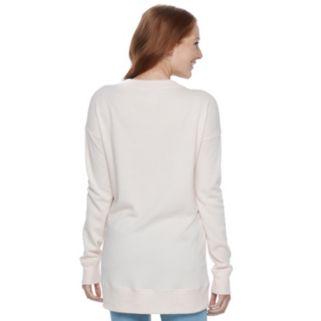 Juniors' SO® Boyfriend Tunic Sweatshirt