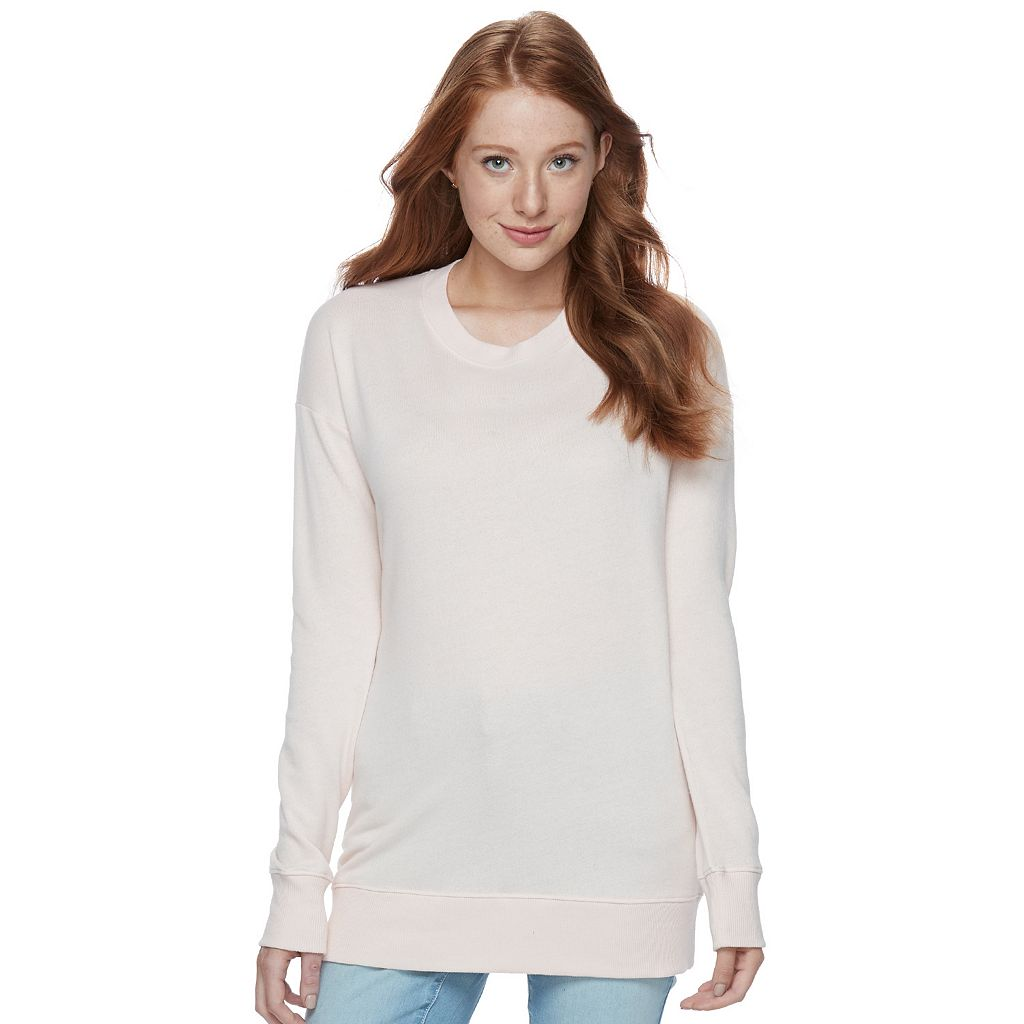 Juniors' SO® Boyfriend Tunic Sweatshirt