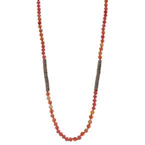 Long Knotted & Beaded Necklace