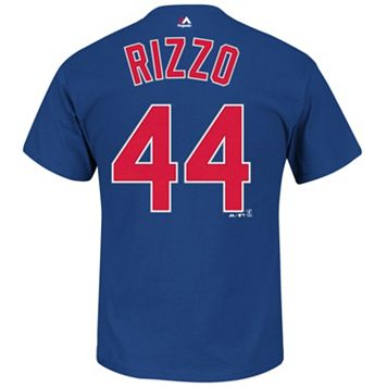 Big & Tall Majestic Chicago Cubs Anthony Rizzo Name and Number Tee