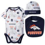 Baby Boy Denver Broncos Forever Fan 3-Piece Bodysuit Set