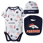 Baby Boy Denver Broncos Forever Fan 3 pc Bodysuit Set