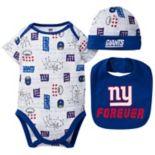Baby Boy New York Giants Forever Fan 3-Piece Bodysuit Set
