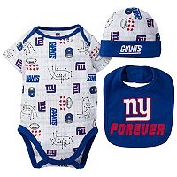 Baby Boy New York Giants Forever Fan 3-Piece Bodysuit Set