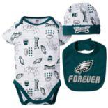Baby Boy Philadelphia Eagles Forever Fan 3-Piece Bodysuit Set