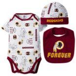 Baby Boy Washington Redskins Forever Fan 3-Piece Bodysuit Set