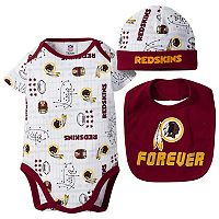 Baby Boy Washington Redskins Forever Fan 3-Piece Bodysuit Set