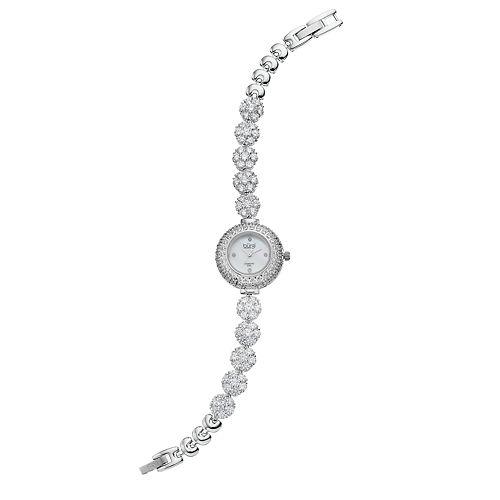 burgi Women's Diamond & Crystal Floral Watch