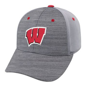 Adult Wisconsin Badgers Steam Performance Adjustable Cap