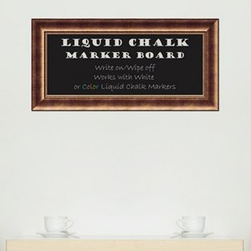 Amanti Art Manhattan Bronze Finish Framed Liquid Chalkboard Wall Decor