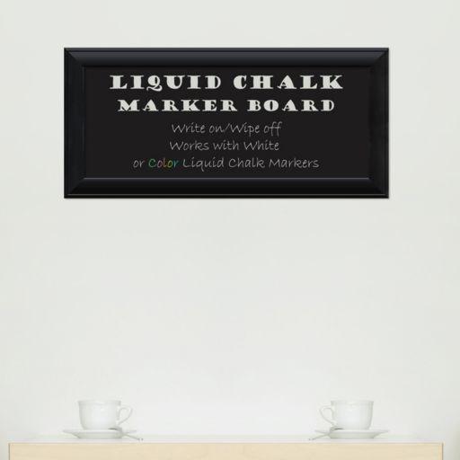 Amanti Art Black Finish Framed Liquid Chalkboard Wall Decor