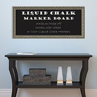 Amanti Art Parisian Silver Finish Framed Liquid Chalkboard Wall Decor