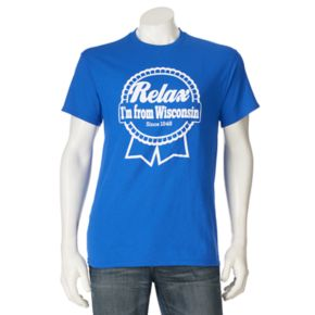 """Men's """"Relax I'm From Wisconsin"""" Tee"""
