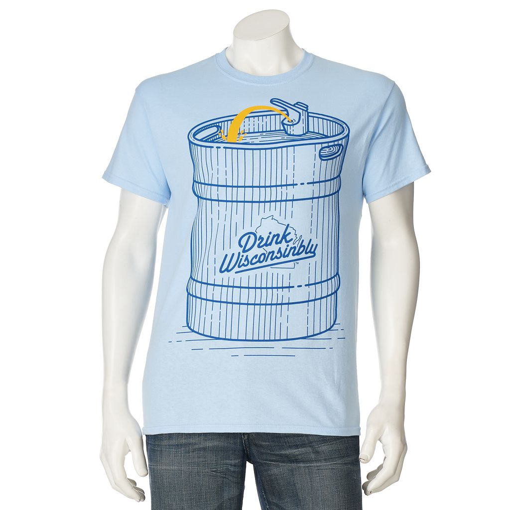 Men's Drink Wisconsinbly Beer Bubbler Tee