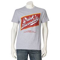 Men's Drink Wisconsinbly Beer Label Tee