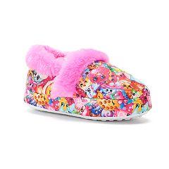 Shopkins Toddler Girls' Plush Slippers