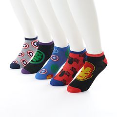 Men's Marvel Avengers 5-Pack No-Show Socks