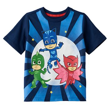 Toddler Boy PJ Masks Gekko, Catboy & Owlette Graphic Tee
