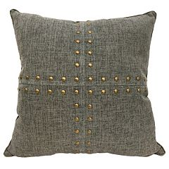 Colordrift Squares Nailhead Throw Pillow