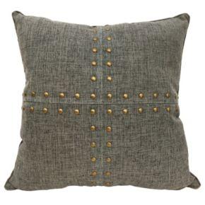 Colordrift Squares Nailhead Throw Pillow