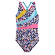 Girls 4-14 Jacques Moret Cool Spots Printed Leotard
