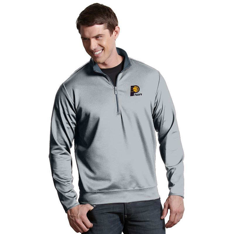 Men's Antigua Indiana Pacers Leader Pullover. Size: Small. Silver
