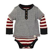 Baby Boy Burt's Bees Baby Organic 2-in-1 Striped Bodysuit & Tee Set