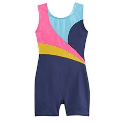 Girls 4-14 Jacques Moret Embellished Colorblock Biketard