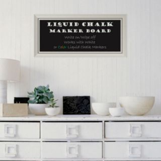 Amanti Art Romano Rectangular Framed Liquid Chalkboard Wall Decor